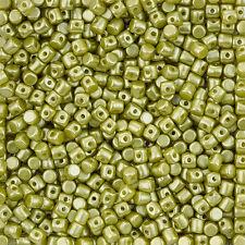 Minos® par Puca® 2.5x3mm Czech Glass Barrel Beads Pastel Lime - 9g (L99/5)