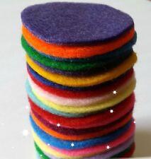 Felt Circles 4cm, Mixed Colours, Pack of 10 circle, Die Cut Craft Embellishments