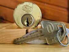 Russwin Emhart High Security Rim Mortise Lock Cylinder Locksport w/ Key