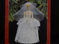 "1997 HALLMARK ~ MATTEL ""WEDDING DAY BARBIE""CHRISTMAS ORNAMENT"