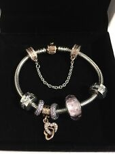 Authentic! Pandora Rose Gold Bracelet with Charms