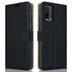 Luxury Black Wallet Leather Case For Xiaomi Redmi 9T Flip Cover Magnetic