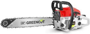 """Greencut Tronçonneuse thermique 62cc 3,8cv lame 20"""" Neuf Envoi Suivi"""