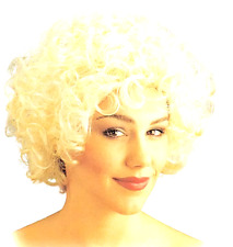 CURLY WIG SHORT BLONDE 50'S 60'S Same D. SEXY WOMAN FANCY DRESS COSTUME ACCESORY