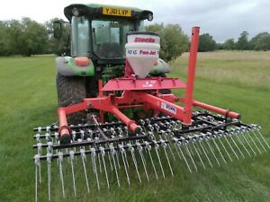 Browns spring tine grass harrows and Seeder