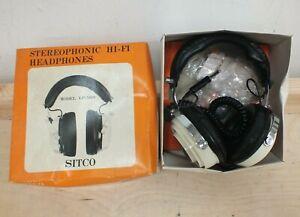 SITCO LP-5000 Vintage Stereo Studio Retro Headphones with Original Box (Mar)