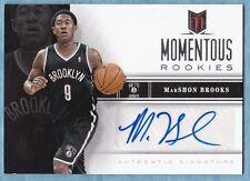 2012-13 Momentum Basketball ~ MarShon Brooks ~ Nets ~ Momentous Rookies Auto #3