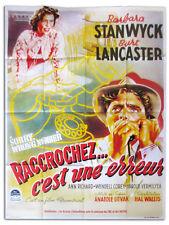 Affiche 120x160cm  RACCROCHEZ… SORRY, WRONG NUMBER Burt Lancaster R90s NEUVE #
