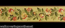 Hand Painted Effect  Wallpaper Border 17.3cm x4.57m) Printed on a flat paper