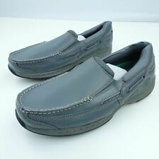 Dr Scholl's Men's Loafers Comfort Gray Leather Slip On Stylish Shoes Size 9D
