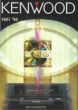 Kenwood Katalog Prospekt '98 DM9090 KRV999D DEM999D KRA3080 KA7090R KTF3010