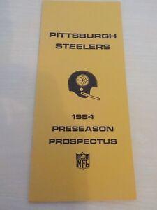 1984 PITTSBURGH STEELERS Preseason Prospectus - Mint Condition