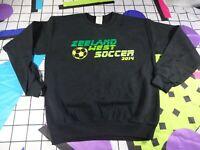 vtg 90s gildan soccer university college spell out  sweatshirt sweater jumper