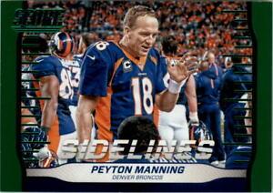 2016 Score Sidelines Green #1 Peyton Manning - NM-MT