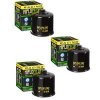 Hiflofiltro Racing HF138RC Oil Filter 3 Pack Aprilia Cagiva Suzuki GSXR600 700