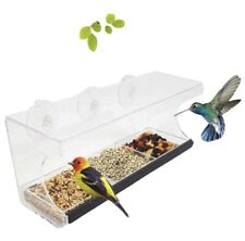 New listing Window Bird Feeder With 3 Super Strong Suction Cups & Sliding Seed Tray Large
