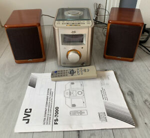 JVC FS 7000Ultra Compact Component Stereo System with Wood Speakers