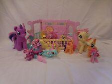 My Little Pony Newborn Cuties Nursery Crib + Mermaid Dolphin Carriage + 12 Ponys