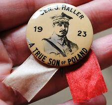 Original Gen. J. Haller a true son of Poland pin badge