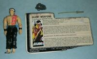 1985 GI Joe Silent Weapons Quick Kick v1 Karate Ninja Figure & File Card *BROKEN