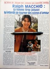 *RALPH MACCHIO => 1 page 1991 FRENCH clipping / FREE SHIPPING!!!