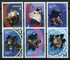 More details for curacao year of rat stamps 2020 mnh chinese lunar new year 6v set
