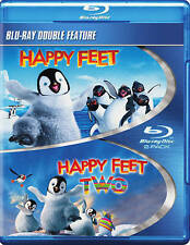 NEW GENUINE WB DOUBLE FEATURE 2 BLU RAY HAPPY FEET 1 & 2 ONE TWO FREE 1STCLS S&H
