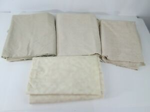 Lot of Beige Brown Neutral Fabric Material Quilt Craft 4 Pieces 8 yds Total