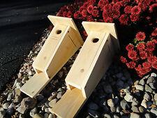 Bluebird house nesting box, Peterson style, White Cedar (Two Pack)