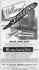 WILLIAMS SHAVING STICK, EXQUISITE, INCOMPARABLE, SHAVE