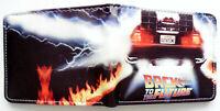 DeLorean Back To The Future Bifold Wallet purse id window 2 slot OUTATIME J Fox
