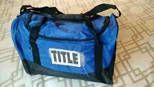 Title Boxing Club Sport Gear Gym Duffel Bag 16 x 10 x 12 Inches Royal Blue