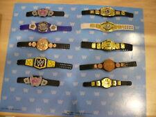 WWE MATTEL ELITE SERIES HUGE LOT OF WRESTLING FIGURE CHAMPION TITLE BELTS