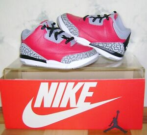NIKE AIR JORDAN 3 III Retro SE Fire Red TD Sz 10 C Shoes CQ0489-600 FAST SHIP!