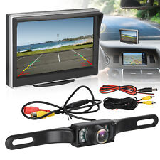 "Car Backup Camera Rear View Hd Parking System w/ Night Vision+5"" Tft Lcd Monitor"