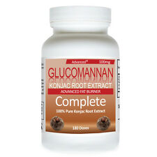 Glucomannan 180 Dose Natural Weight Loss Pure Konjac Root Reduce Appetite