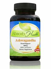 Ashwagandha (10:1) Extract | 500 mg | 100 Capsules | Traditional Stress Reducer