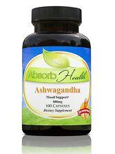 Ashwagandha (10:1) Extract | 500 mg | 100 Capsules | Traditioinal Stress Reducer