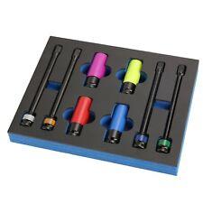 8pcs 7 78in Torque Limiting Extension Bar Deep Impact Socket Lug Nut Set