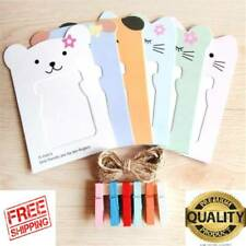 2 Sets of Cat Hanging Paper Photo Frame and Clip Twine Photo Frame Hanging Photo