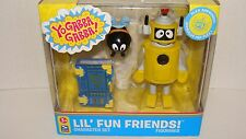 Yo Gabba Gabba Lil' Fun Friends Figure Set Plex, Bee & Story Time Book NEW