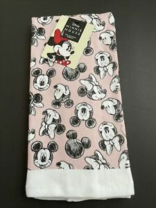 New Disney Mickey Mouse & Minnie Design 2 Pack Designer Kitchen Towels 16 X 26