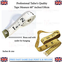 White Body Tailor Tape Measure Professional Quality Soft Brass Eye Hole