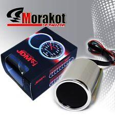 "Universal Jdm Sport 2"" inch 52mm Water Temperature Led Display Gauge Smoke Tint"