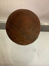 """RARE Solid Cannonball 4.6 Pounds 3.25"""" Diameter Rusty Antique Vintage"""