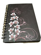 Picadilly Spiral Notepad Flower Cover New