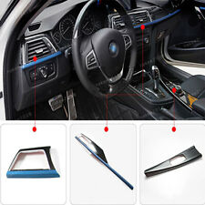 Blue Center Console Decoration Panel Cover Trim For BMW 3 4 Series 2013-2017
