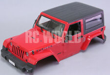 RC Scale Truck Body Shell1/10 JEEP WRANGLER RUBICON Hard Body w/ INTERIOR RED