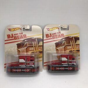 2 Hot Wheels Retro Entertainment Thunder Roller BJ and the Bear Mattel 1:64