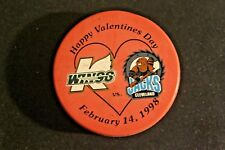 Wings vs Jacks Happy Valentines Day Red Puck February 14, 1998